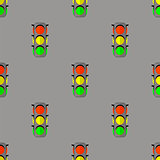 Traffic Light Seamless Pattern