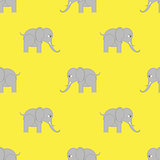 Elephant Seamless Pattern.