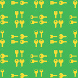 Seamless Gold Key Pattern