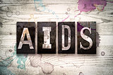 AIDS Concept Metal Letterpress Type