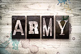 Army Concept Metal Letterpress Type