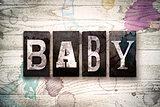 Baby Concept Metal Letterpress Type