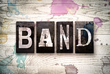 Band Concept Metal Letterpress Type
