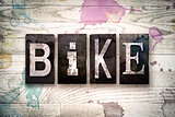 Bike Concept Metal Letterpress Type