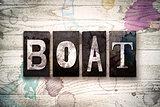 Boat Concept Metal Letterpress Type