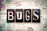 Bug Concept Metal Letterpress Type
