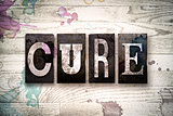 Cure Concept Metal Letterpress Type