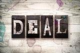 Deal Concept Metal Letterpress Type