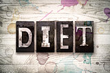 Diet Concept Metal Letterpress Type
