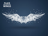 Particles of Wings,full enterprising across significance vector illustration.