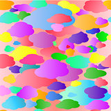 Colored Clouds Pattern