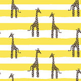 Giraffe skin vector seamless pattern. Safari animal texture stains background with lines for kids.
