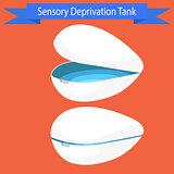 Sensory deprivation Tank vector illustration.
