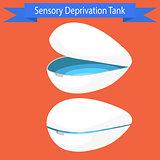 Sensory deprivation Tank vector illustration.