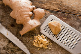 Freshly minced or grated root ginger