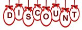discount icon with red ribbon for you design