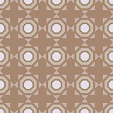 Geometric seamless ornament. Brown background