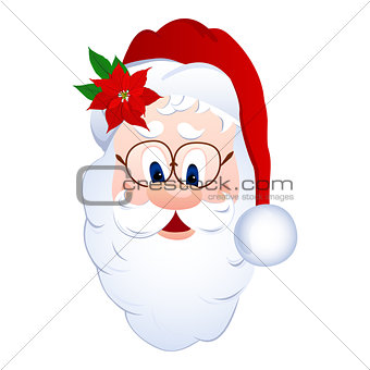 Cartoon Santa Claus head