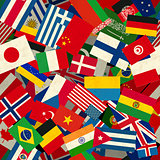 Different countries flags seamless pattern