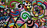Zentangle abstract background, sketch for your design