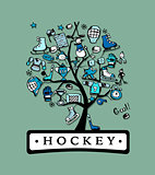 Hockey concept tree, sketch for your design