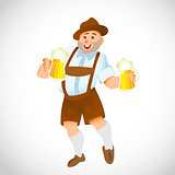 bavarian man with a big glass of beer
