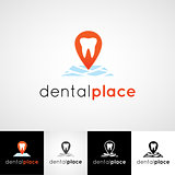 Creative dental logo design. Teethcare icon set. dentist clinic insignia, stomatologist practice sign, orthodontist illustration, teeth vector, oral hygienist concept for stationary, medical products or medicine poster image