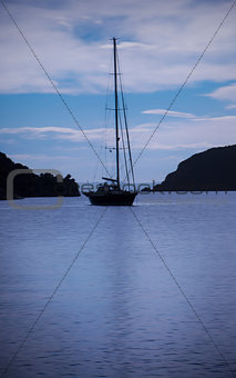 Bay yacht mooring