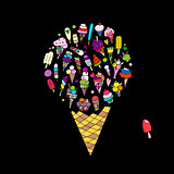 Big icecream, sketch for your design
