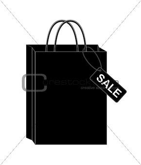 Black shopping bags. eps10 vector illustration