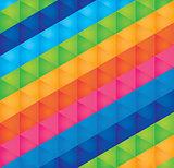 background bright multicolored triangles