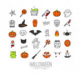 Halloween flat icons color
