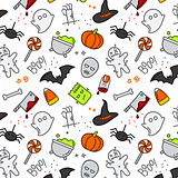 Halloween flat pattern color