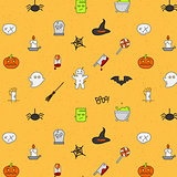 Halloween flat pattern soft color