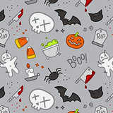 Halloween flat pattern skull color