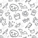 Halloween flat pattern skull