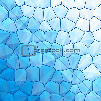 Blue abstract geometrical background