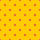 Tile cross plus pastel pink and yellow vector pattern