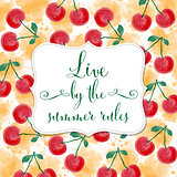 Fresh watercolor summer background with message