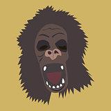 Horrible gorilla head