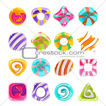 Candies vector set