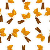 Seamless pattern with leaf, abstract leaf texture, endless background