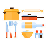 Kitchen Utensils Collection. Vector Illustration