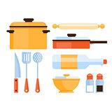 Kitchen Utensils Collection. Vector Illustration