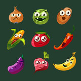 cartoon fruits cartoon fruits and vegetables with different emotions