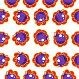 Bomb Seamless Pattern. Vector Illustration Background