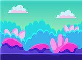 Game Background Vector Illustration Set