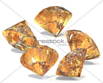 Great diamonds 3d rendering