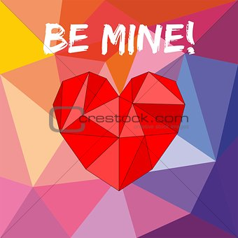 Be mine valentines vector card