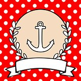 Nautical vector card or sailor invitation